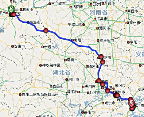 陕西高铁规划线路图图片下载分享; 合杭高铁线路图-1; 九江二桥线路图