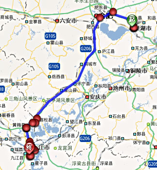 352国道全程线路图
