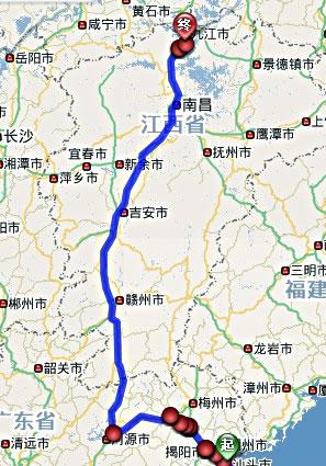 汕头离梅县地图